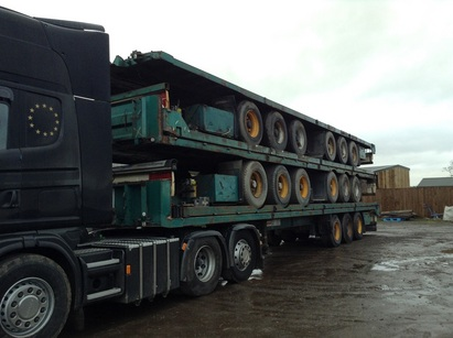 STACK OF 5 FRUEHAUF TRAILERS